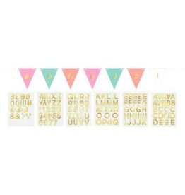 Pastel Customizable Paper Pennant Banner