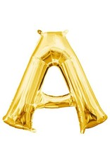 "Air-Filled Letter ""A""- Gold 16"" Balloon (Will Not Float)"
