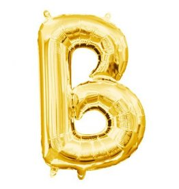 "Air-Filled Letter ""B""- Gold 16"" Balloon (Will Not Float)"