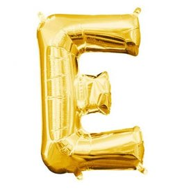 """Air-Filled Letter """"E""""- Gold 16"""" Balloon"""