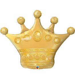 "Golden Crown 41"" Mylar Balloon"