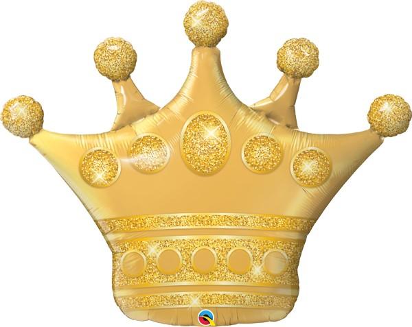 Golden Crown Mylar Balloon