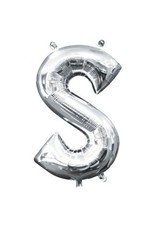 "Air-Filled Letter ""S""- Silver Balloon (Will Not Float)"