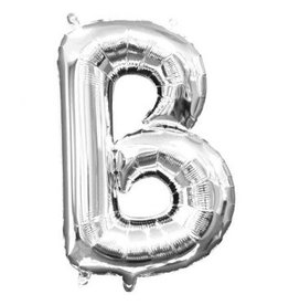 """Air-Filled Letter """"B""""- Silver Balloon"""
