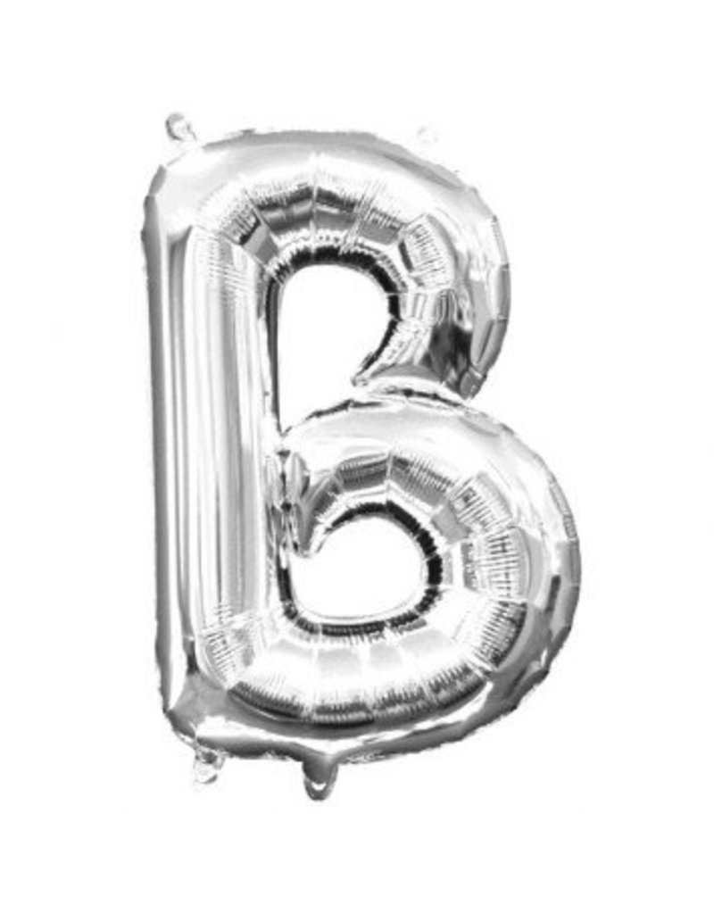 "Air-Filled Letter ""B""- Silver Balloon (Will Not Float)"