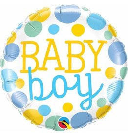 "Baby Boy Dots 18"" Mylar Balloon"
