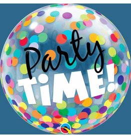 """Party Time Colourful Dots 22"""" Bubble Balloon"""