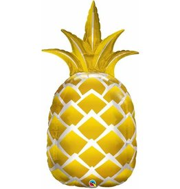 "Golden Pineapple 44"" Mylar Balloon"