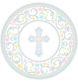 "Blessed Day Round Plates, 7"" (18)"
