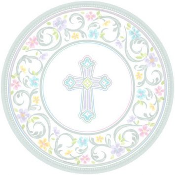 """Blessed Day Round Plates, 7"""" (18)"""