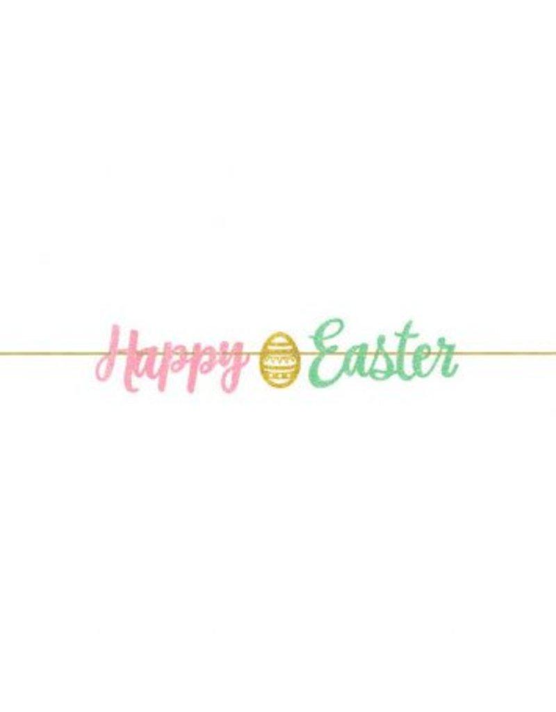 Easter Script Glitter Letter Banner