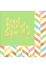 Eat, Drink & Be Happy! Hot Stamped Luncheon Napkins (16)