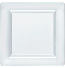 """Clear Premium Plastic Square Plates, 10"""""""