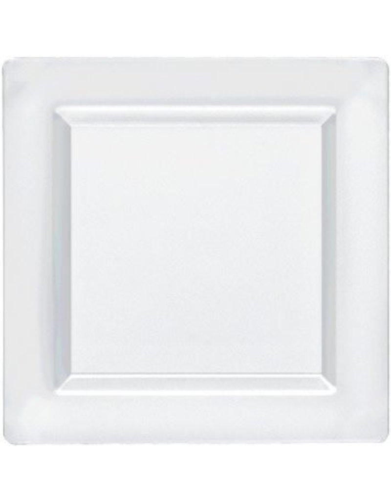 """Clear Premium Plastic Square Plates 7 1/4"""" (10)"""