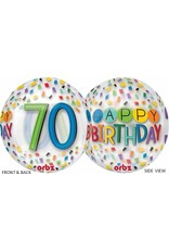 "70th Birthday Rainbow 22"" Bubble Balloon"