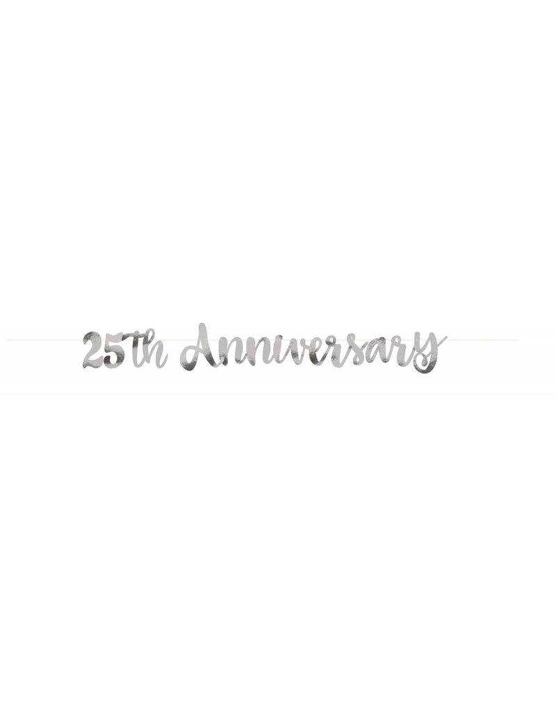 25th Anniversary Script Banner Silver
