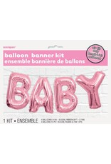 Baby Balloon Banner Pink
