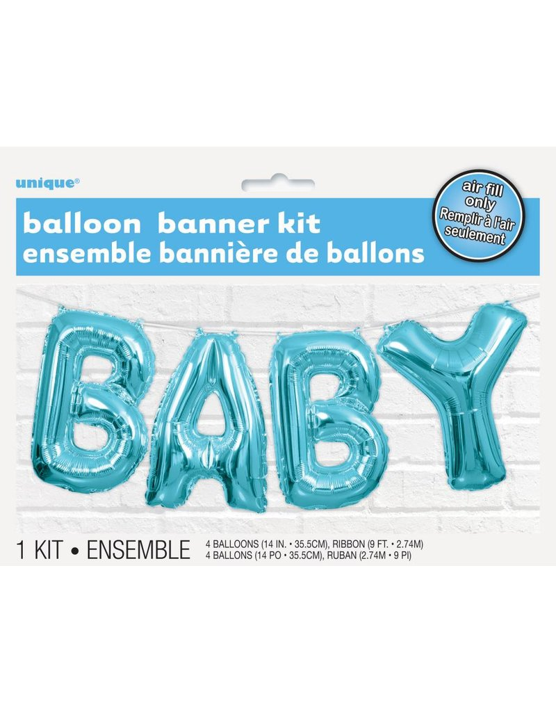 Baby Balloon Banner Blue
