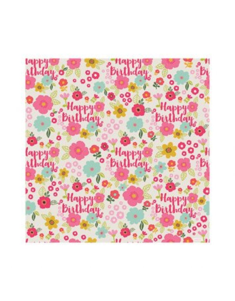 Floral Birthday Gift Wrap
