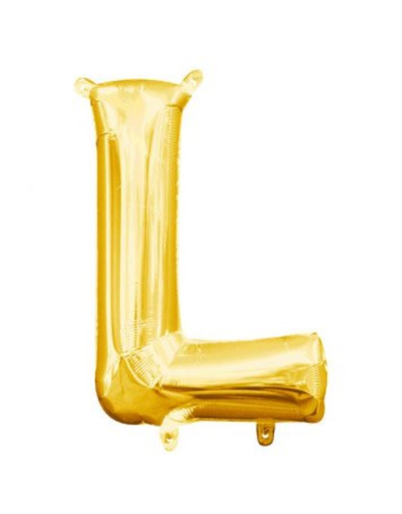 "Air-Filled Letter ""L""- Gold Balloon (Will Not Float)"