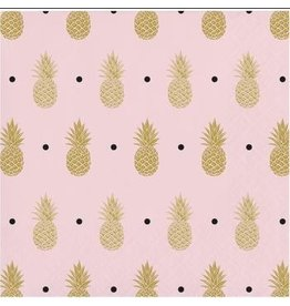 Pineapple Wedding Foil Stamped Beverage Napkins (16)