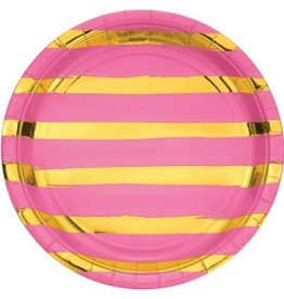 Candy Pink Lunch Plates (8)