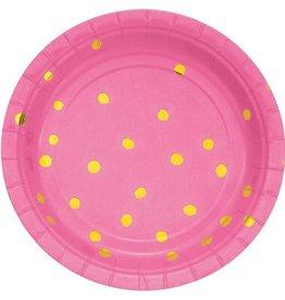 Candy Pink Dessert Plates (8)