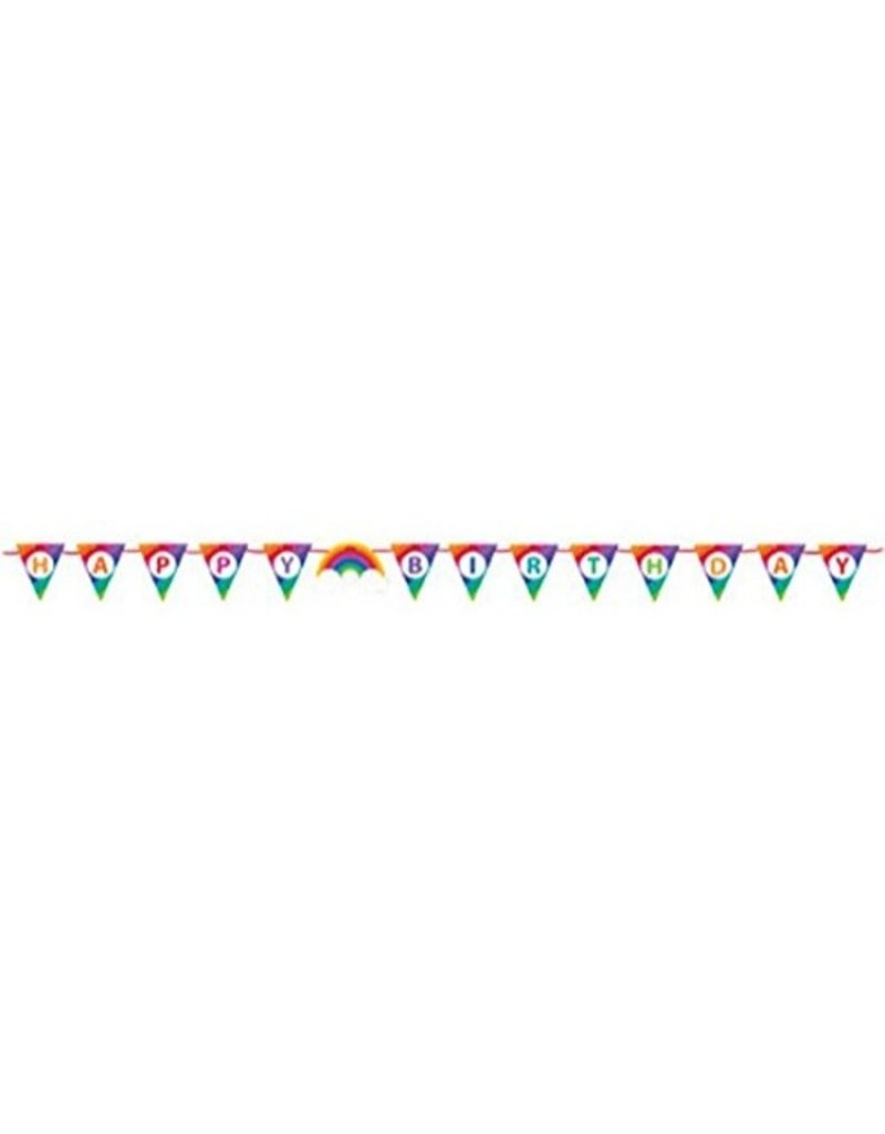 Birthday Rainbow Shaped Ribbon Banner