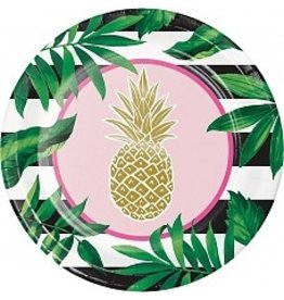 "Pineapple Wedding Foil 10"" Plate (8)"