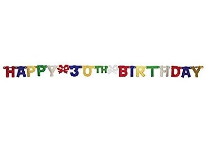 30th Birthday Banner