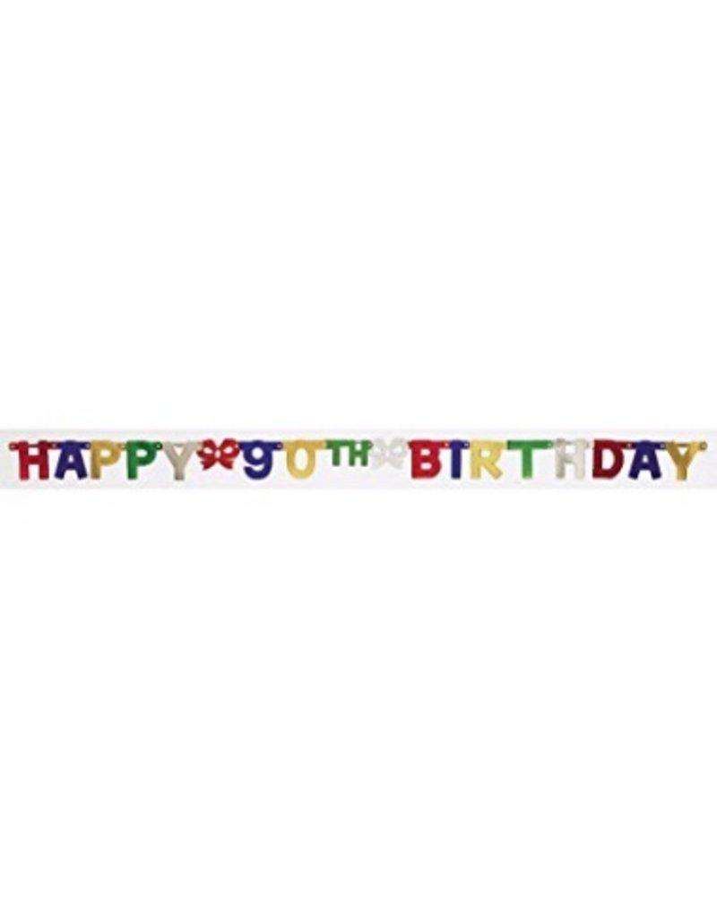 90th Birthday Banner