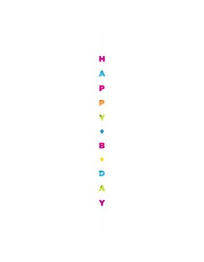 Balloon Fun Strings - Happy Birthday Letters, Brights