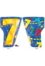 "#7 Multicolour Shape 18"" Mylar Balloon"