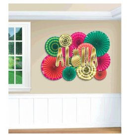 Aloha Deluxe Paper Fan Decorating Kit