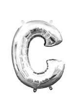 "Air-Filled Letter ""C""- Silver Balloon (Will Not Float)"