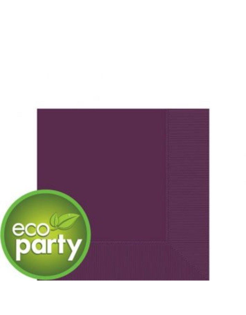 Eco Party Plum Beverage Napkins, 3-Ply, (50)