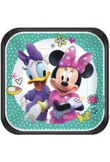 "Disney Minnie Mouse Happy Helpers Square Plates, 7"" (8)"