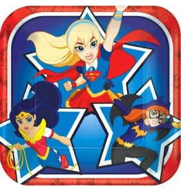DC Super Hero Girls™ Square Plates, 7""