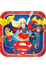 DC Super Hero Girls™ Square Plates, 9""