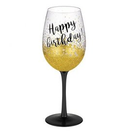 """Happy Birthday"" Wine Glass"