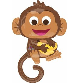 "Happy Monkey 36"" Mylar  Balloon"