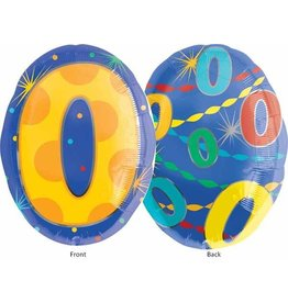 "#0 Multicolour Shape 18"" Mylar Balloon"