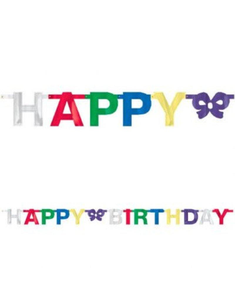 Happy Birthday Small Foil Multicolour Banner