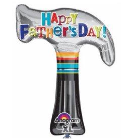 """Fathers Day Hammer 35"""" Mylar Balloon"""
