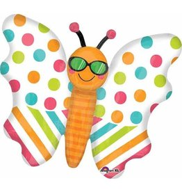 "Butterfly Fun in The Sun 30"" Mylar Balloon"