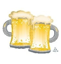 "Beer Mugs 32"" Mylar  Balloon"