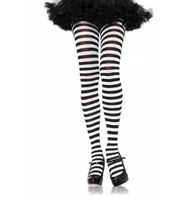 Black & White Striped Pantyhose