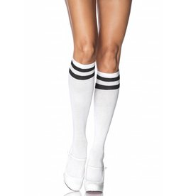 Black & White Athletic Knee High Socks