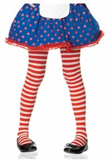 Red & White Striped Pantyhose Medium (Child Size)