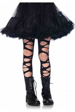 Tattered Pantyhose Black XL (Child Size)